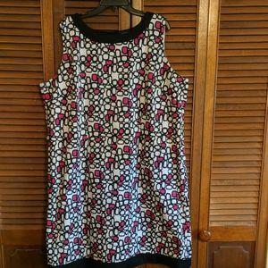 Tahari size 20w black and pink dress
